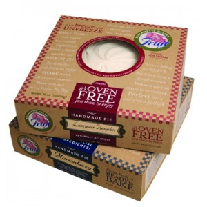 Willamette Valley Fruit Co. pie packaging for frozen pies