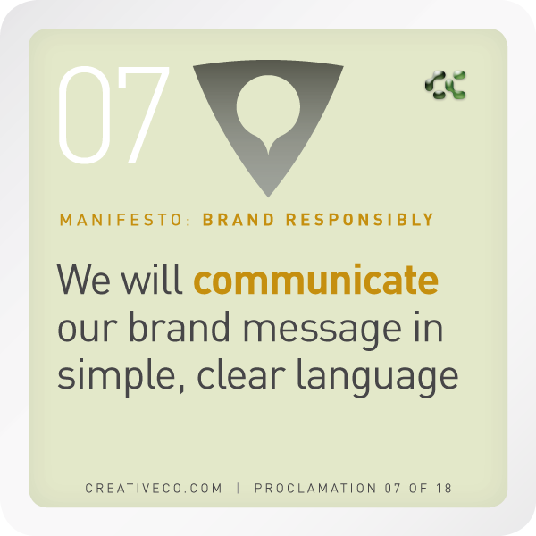 messaging hierarchy establishes the verbal brand