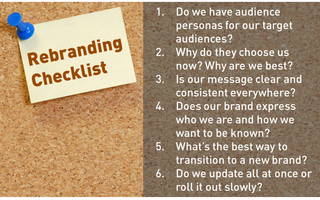 Rebranding checklist to guide your program