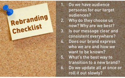 Rebranding checklist to guide your program
