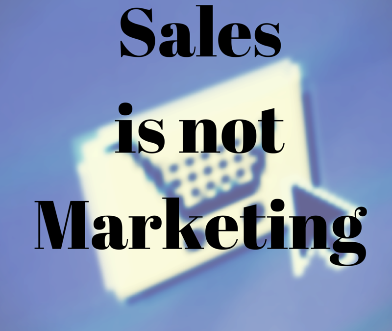 Marketing Mistake 12: Marketing is the same as sales