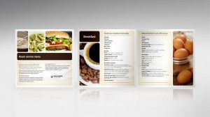 Healthcare marketing to patients: Salem Hospital patient menu design