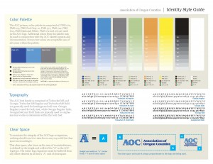 expand the brand with broader colors and a style guide for Association of Oregon Counties