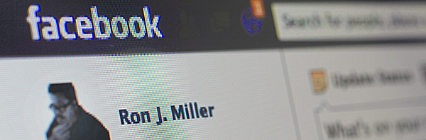 Facebook screen