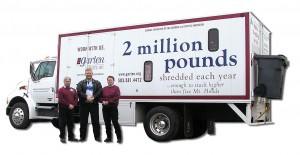 vehicle-graphics-Garten Services Mobile Shredding Services