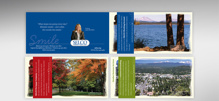 a brand restage shown on the SELCO brochure system