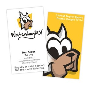 Memorable branding for Waterdog RV business card