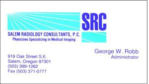 Salem Radiology old business card