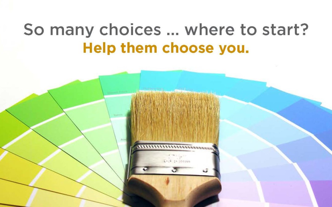 What is point of choice marketing?
