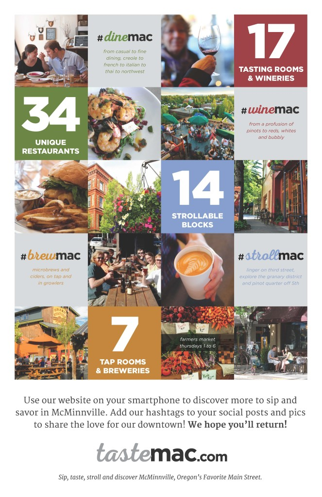 tourism marketing Taste Mac poster