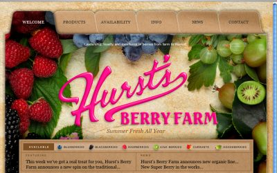 Hursts Berry Farm Website is berry-licious